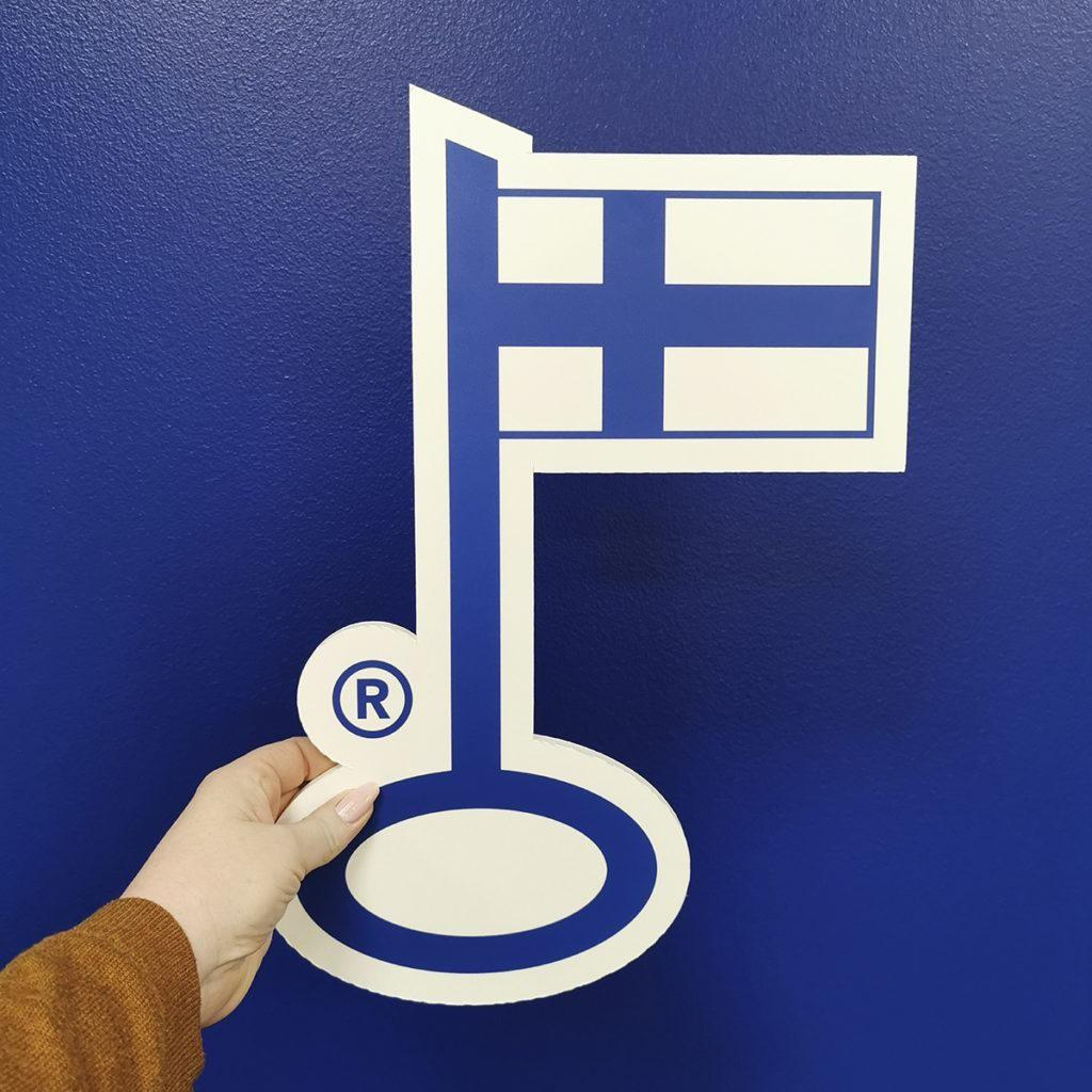 The Key Flag Symbol (Avainlippu) can be awarded to a product manufactured or a service produced in Finland.