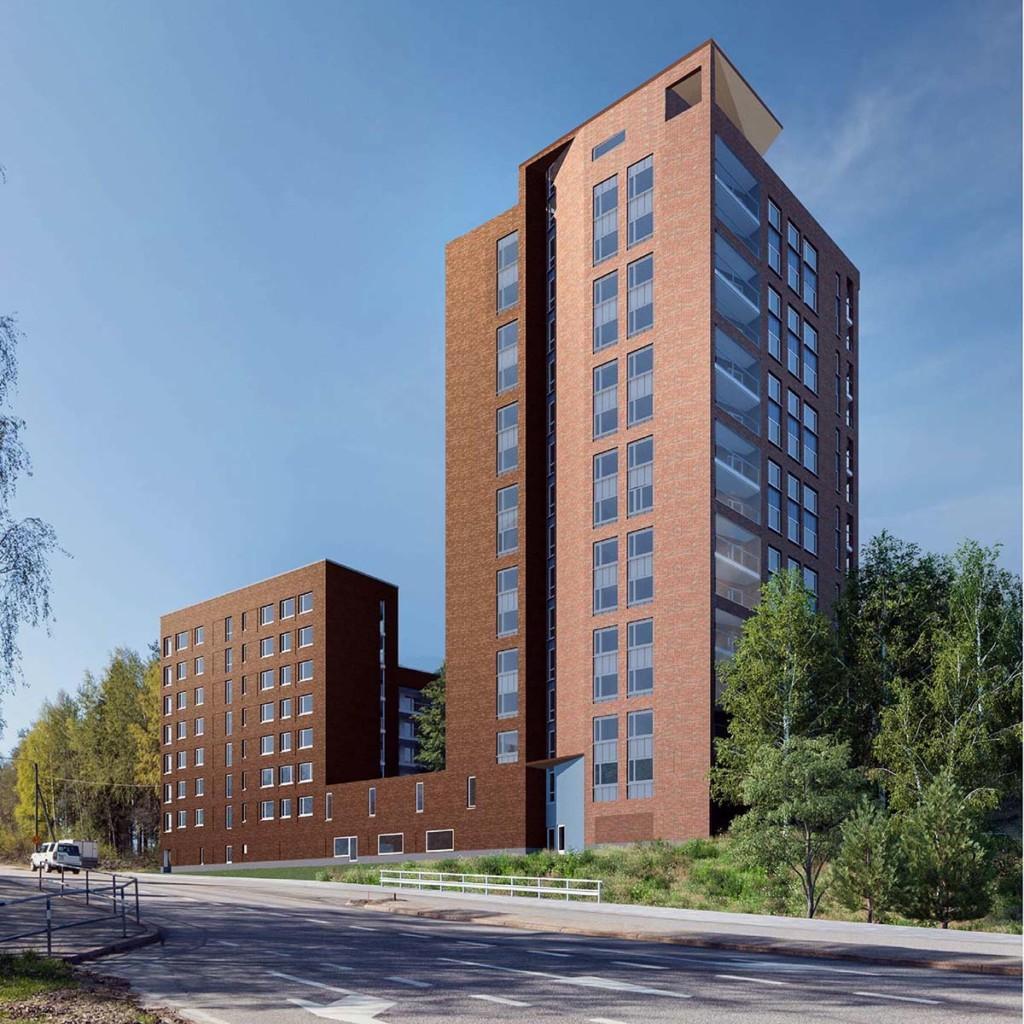 As Oy Helsingin Kollikallio. Kohteen tavoitteena on energiatehokkuusluokka A ja neljän tähden RTS luokitus hankevaiheen asuinrakennusten arviointikriteeristöllä.
