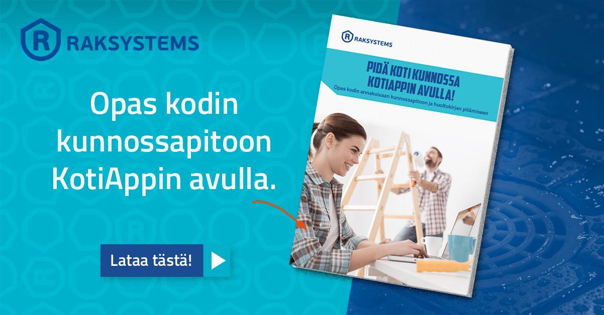 Lataa Kodin kunnossapidon opas KotiAppin avulla!